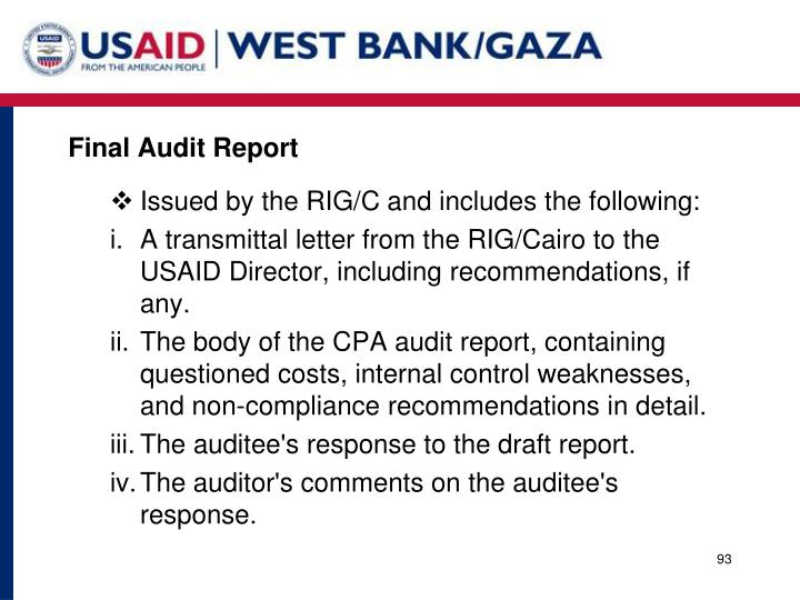 Final Audit Report