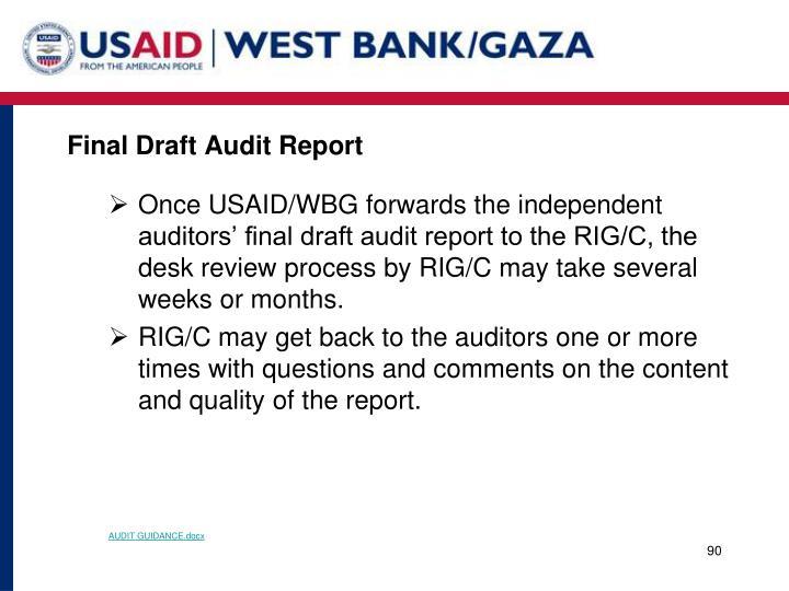 Final Draft Audit Report