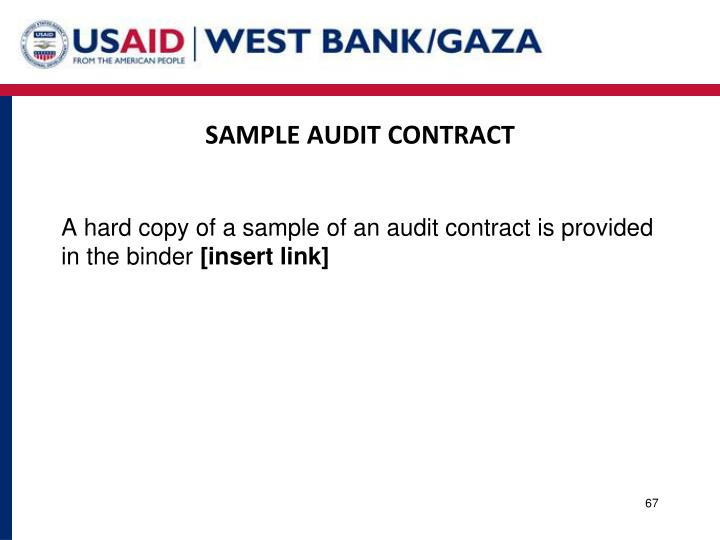 SAMPLE AUDIT CONTRACT