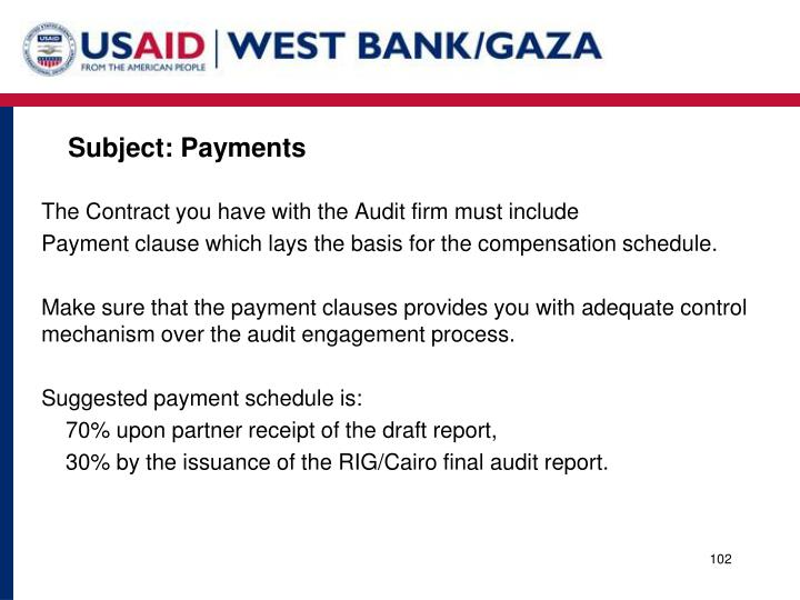 Subject: Payments