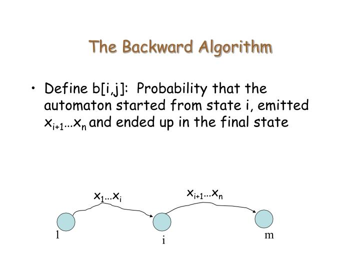 The Backward Algorithm