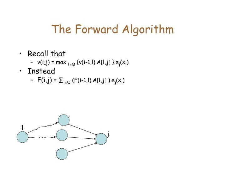The Forward Algorithm