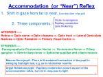 accommodation or near reflex