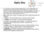 optic disc