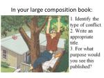 in your large composition book