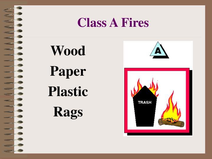Class A Fires