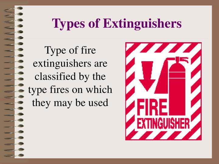 Types of Extinguishers