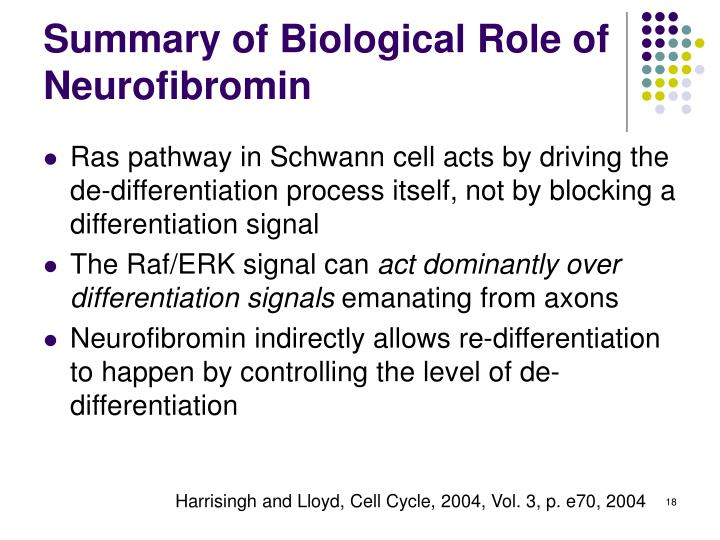 Summary of Biological Role of Neurofibromin