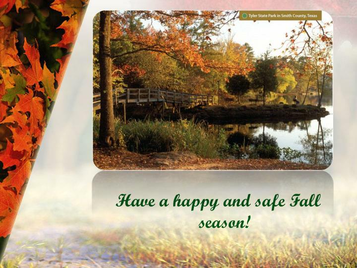Have a happy and safe Fall season!