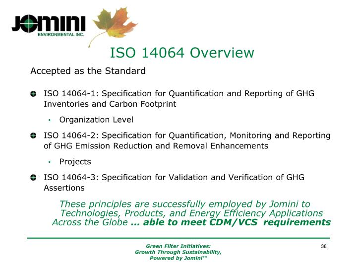 ISO 14064 Overview