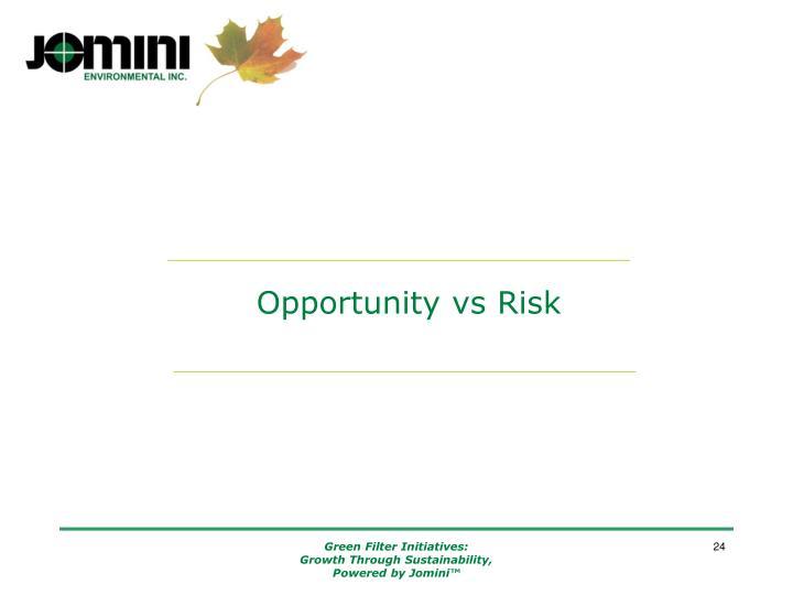 Opportunity vs Risk