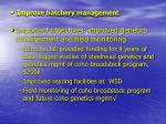 improve hatchery management