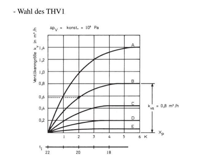 Wahl des THV1