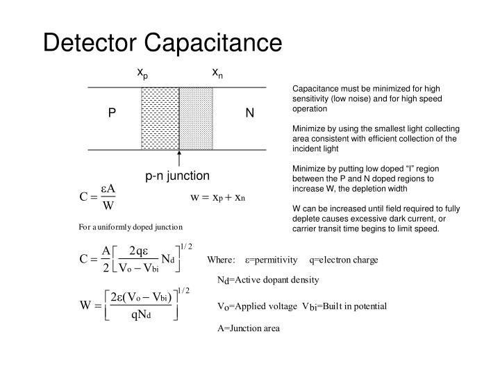 Detector Capacitance