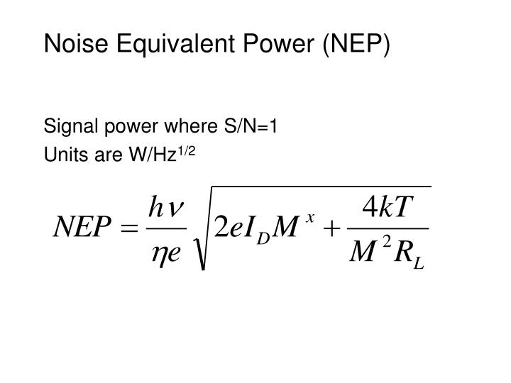 Noise Equivalent Power (NEP)
