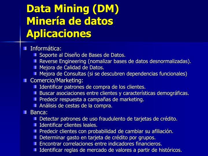 Data Mining (DM)