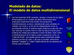 modelado de datos el modelo de datos multidimensional4