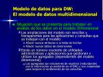 modelo de datos para dw el modelo de datos multidimensional1