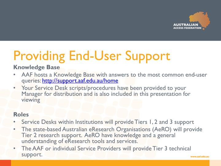 Providing End-User Support
