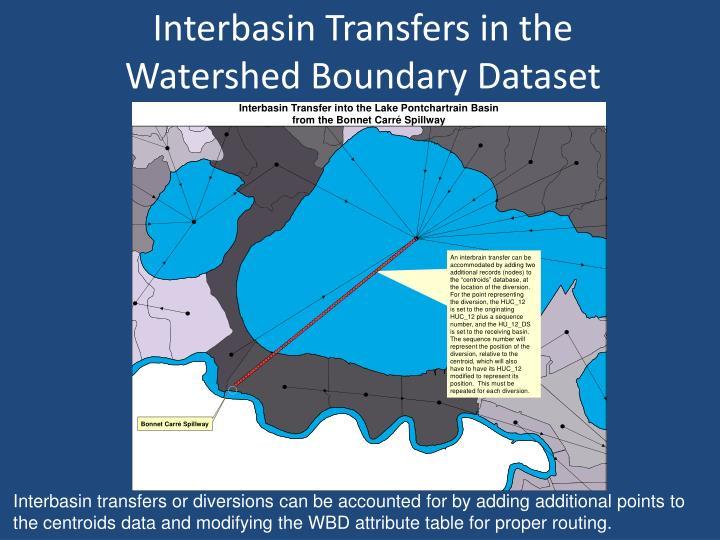 Interbasin Transfers in the
