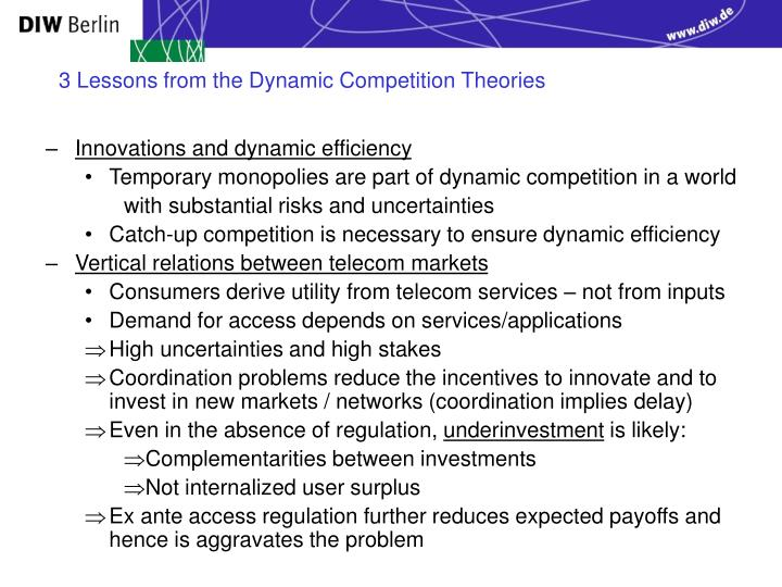 3 Lessons from the Dynamic Competition Theories