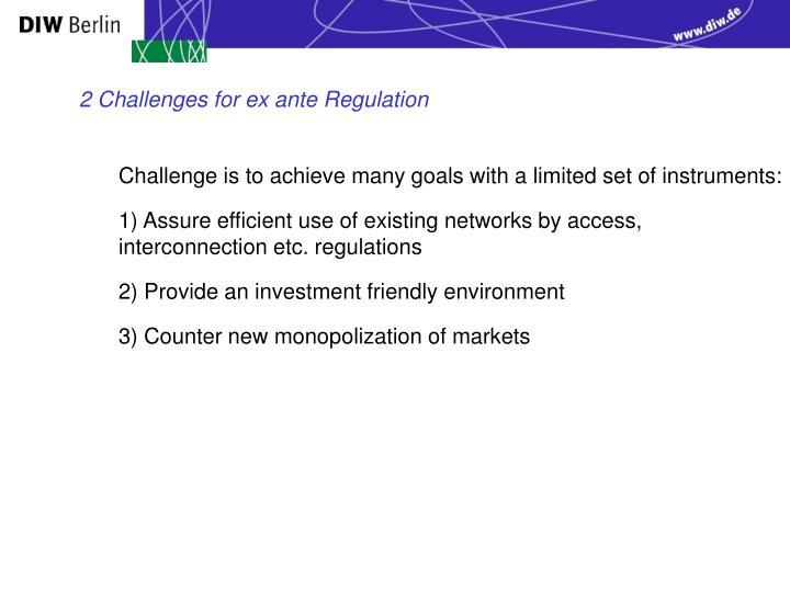 2 Challenges for ex ante Regulation