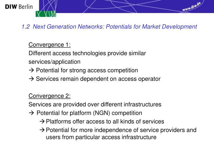 1.2  Next Generation Networks: Potentials for Market Development