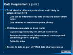 data requirements cont