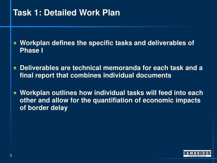 Task 1: Detailed Work Plan