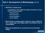 task 4 development of methodology cont