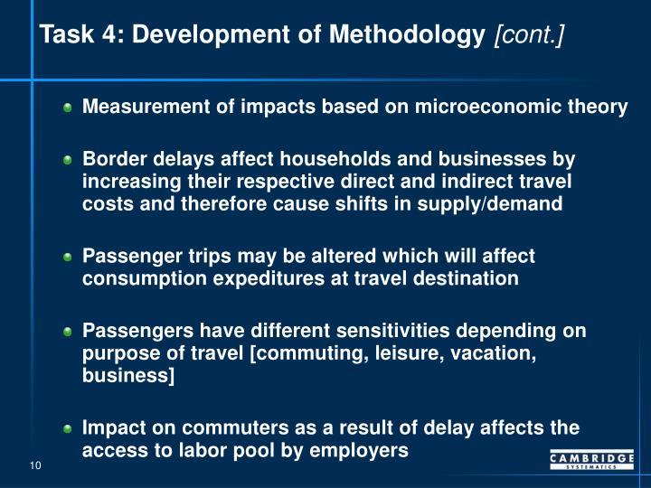 Task 4: Development of Methodology