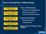 task 4 development of methodology