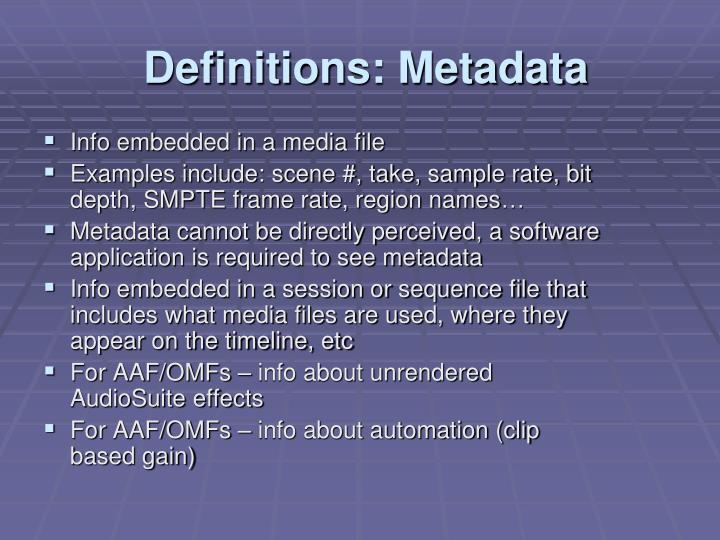 Info embedded in a media file