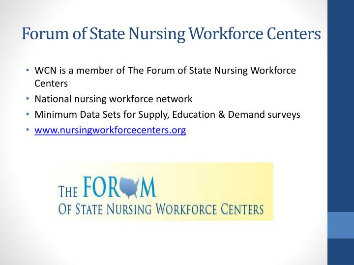 Forum of State Nursing Workforce Centers