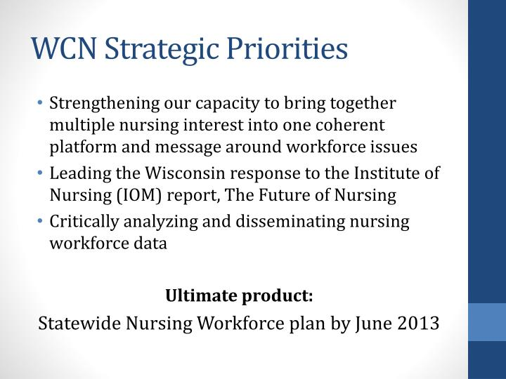 WCN Strategic Priorities