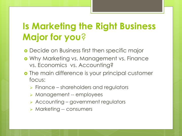 Is Marketing the Right Business Major for you