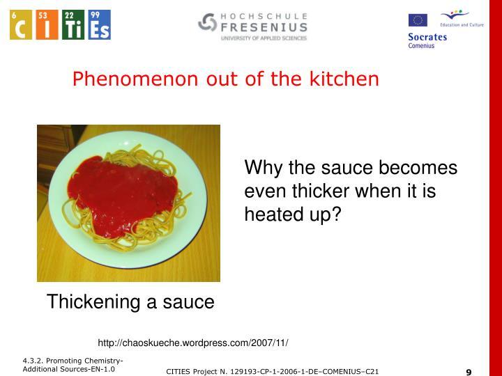Phenomenon out of the kitchen