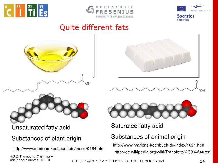 Quite different fats