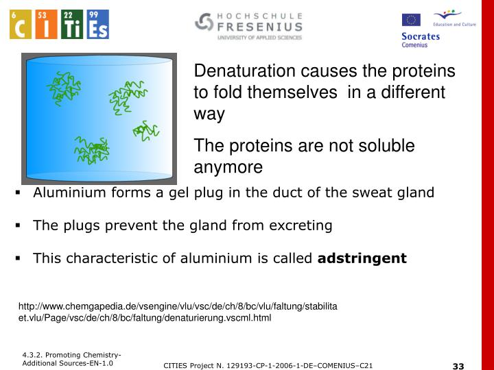 Denaturation causes the proteins to fold themselves  in a different way