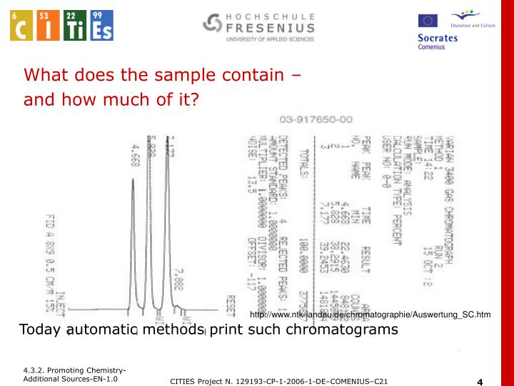 What does the sample contain –