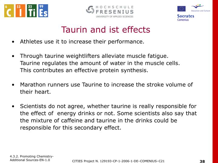 Taurin and ist effects
