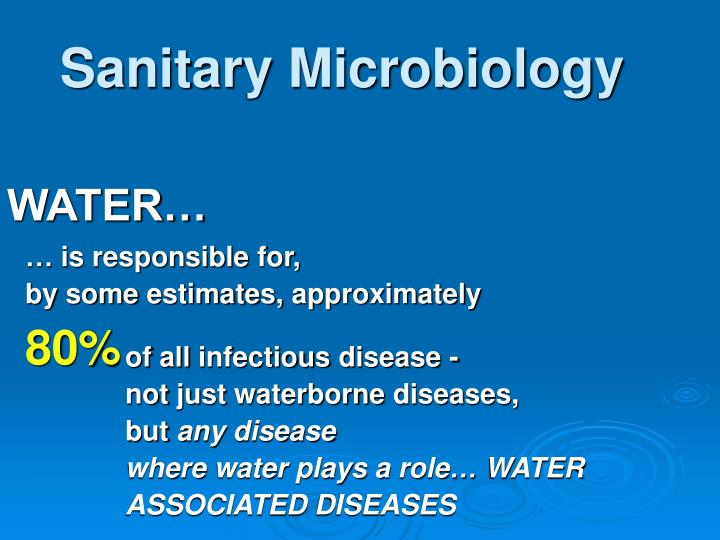 Sanitary Microbiology