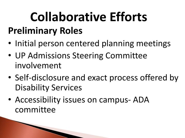 Collaborative Efforts