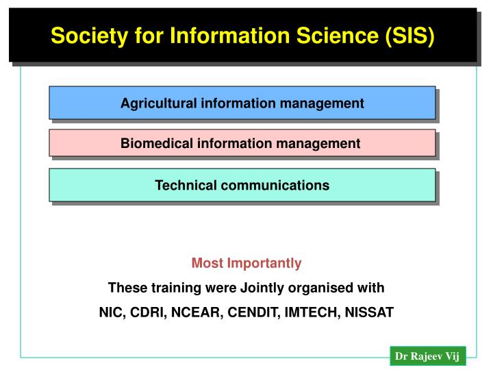 Society for Information Science (SIS)