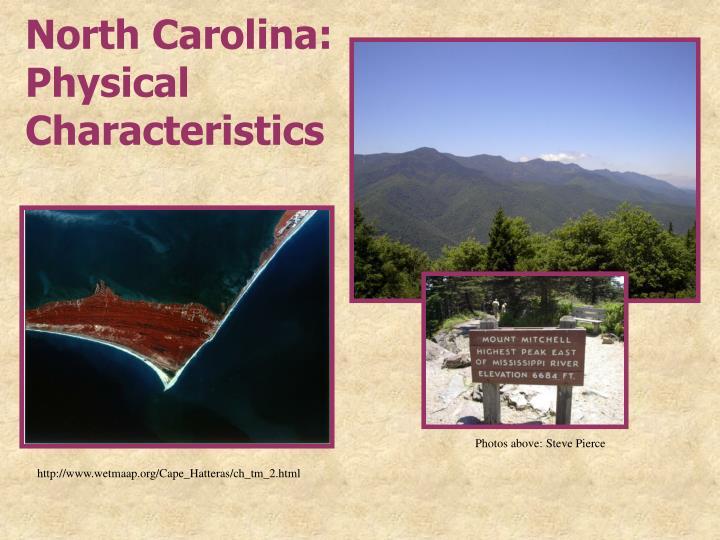 North Carolina: Physical Characteristics