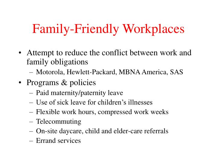 Family-Friendly Workplaces