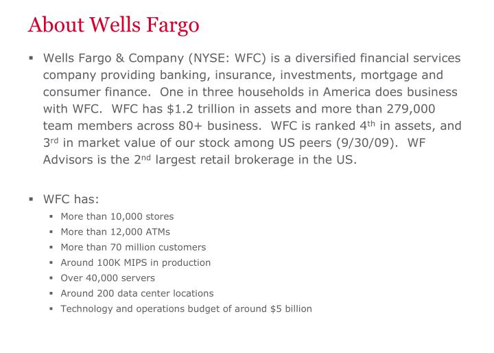 About wells fargo