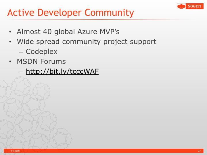 Active Developer Community