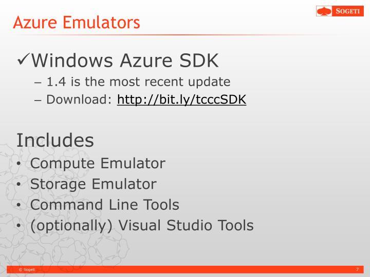 Azure Emulators