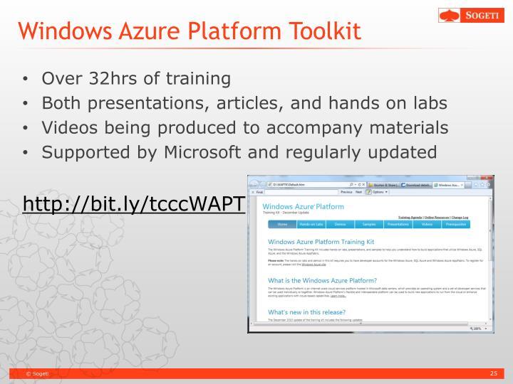 Windows Azure Platform Toolkit